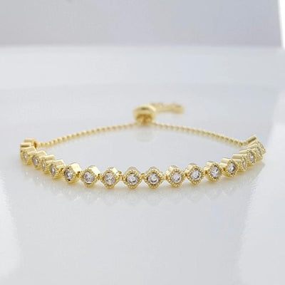 Delicate Gold Bracelet for Weddings-Celia