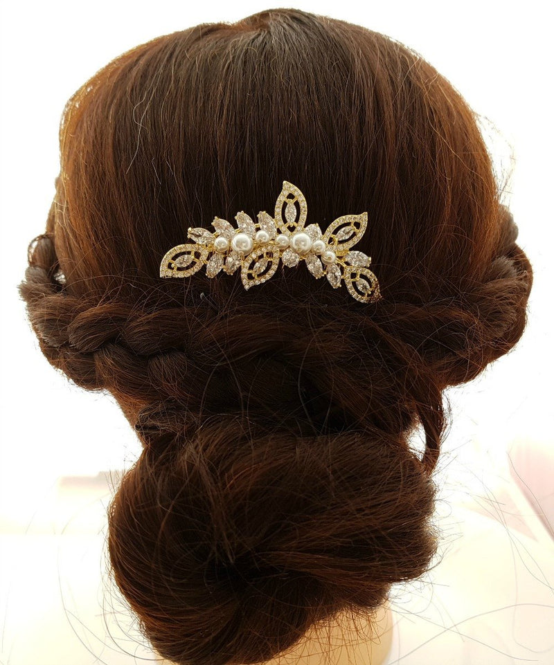 Gold Leaf Hair Comb– Kerry