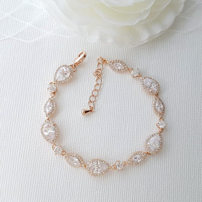Rose Gold Wedding Bracelet-Abby