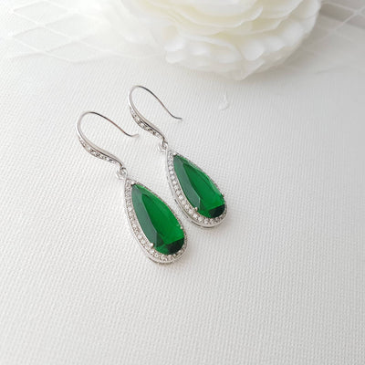 Green Earrings for Bridesmaids & Bridal Party