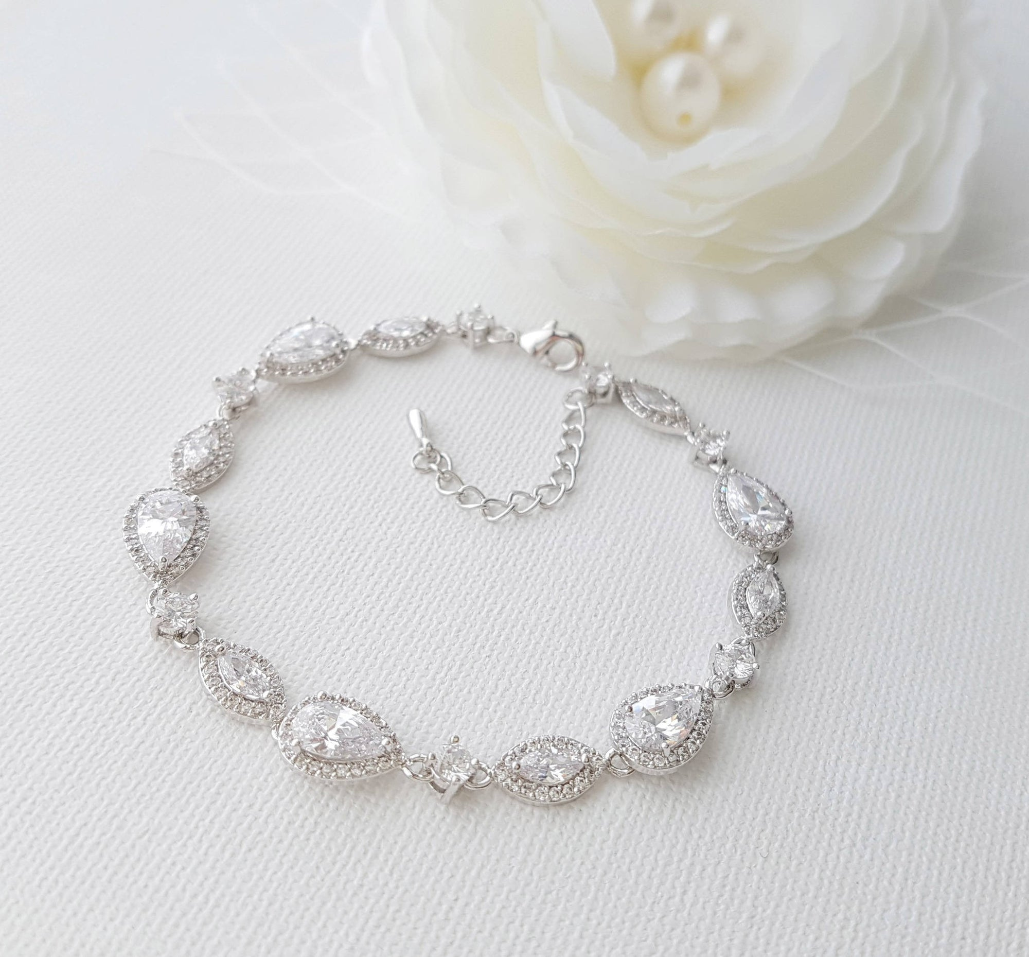 Wedding Bracelet Crystal Bridal Bracelet Wedding Jewelry Simple
