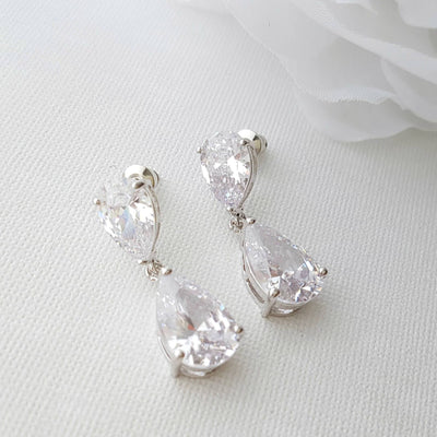 Cubic Zirconia Diamante Earrings