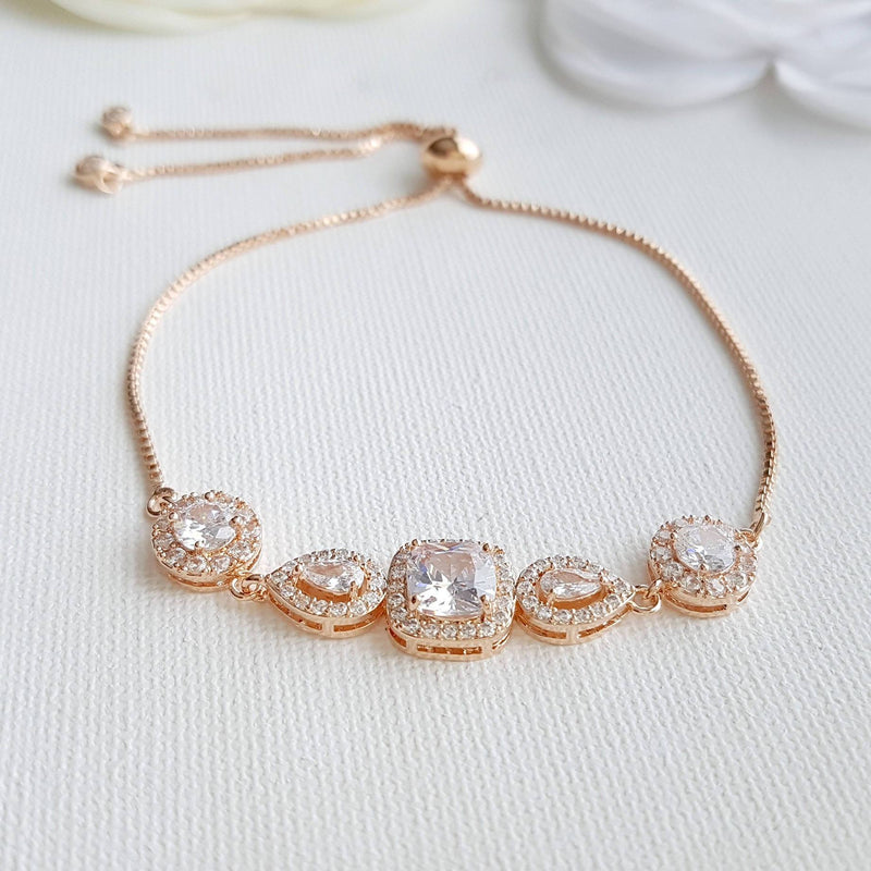 Rose Gold Wedding Bracelets- Gianna