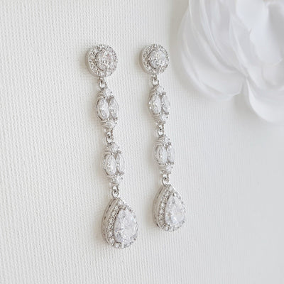 Dangle Clip On Earrings- Hayley