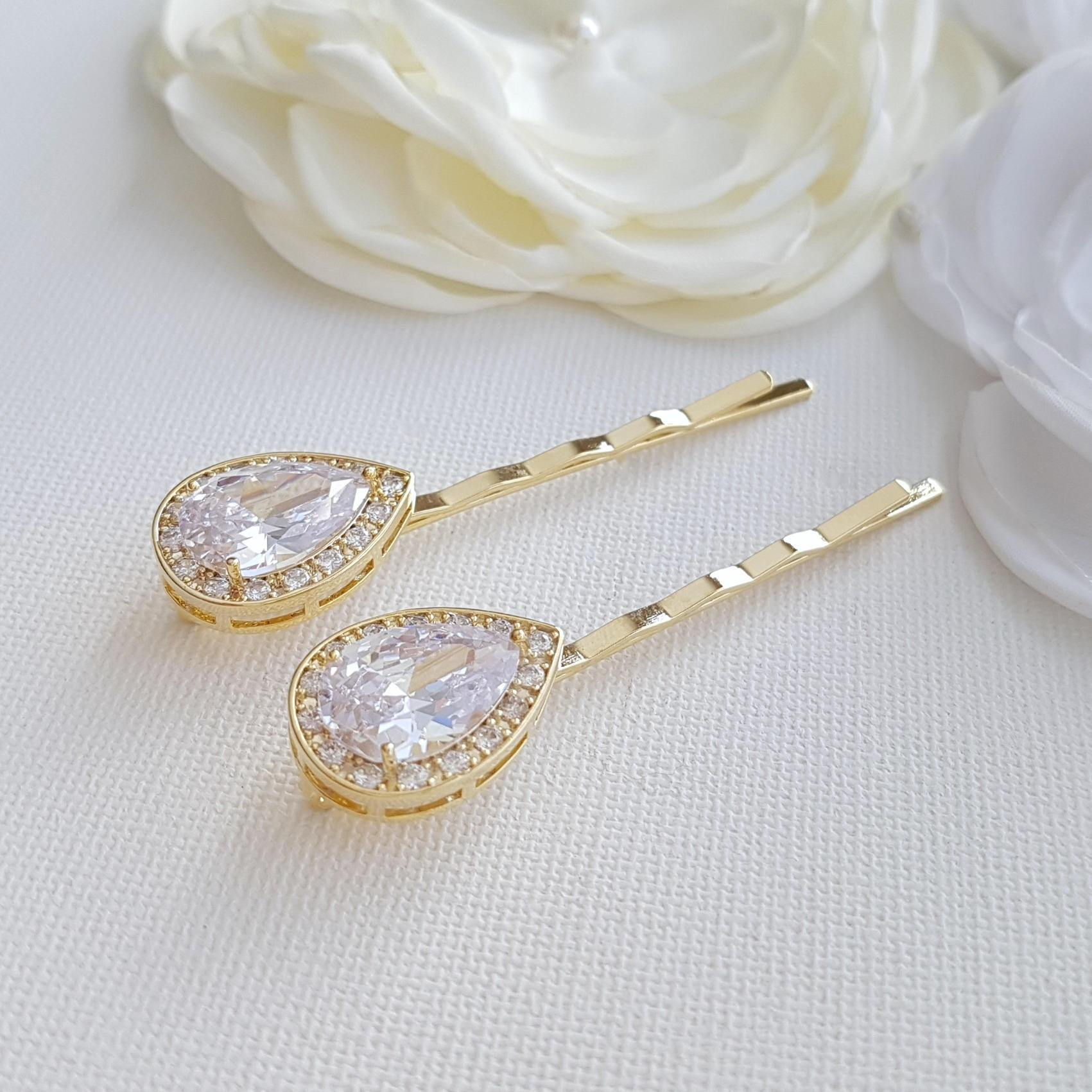 Gold Bridal Hair Pins- Evelyn