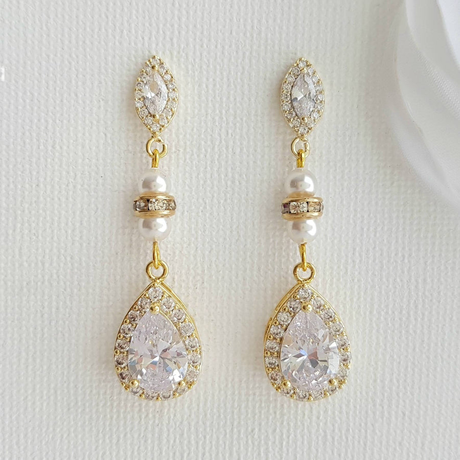 Bridal & Wedding Earrings in Pearl or Crystals for Brides ...