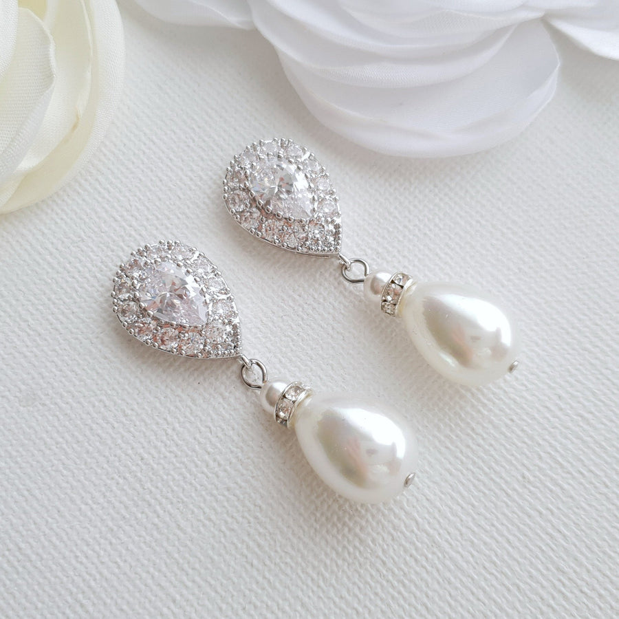Pearl Drop Earrings- Penelope