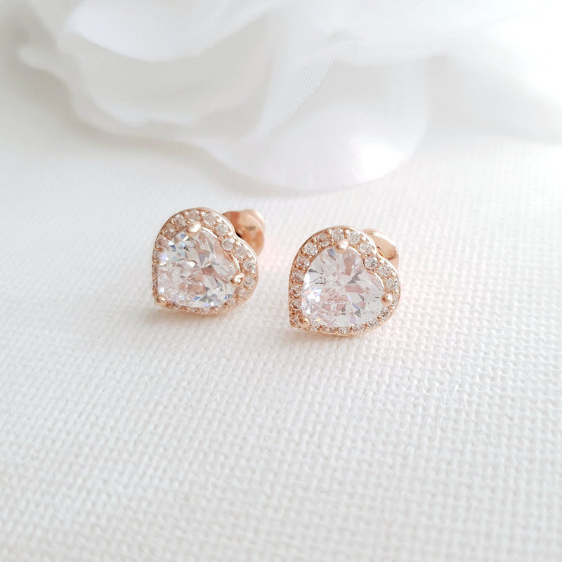 Heart Stud Earrings & Pendants-Diana