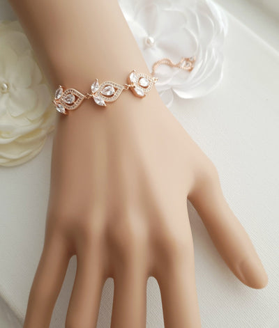 Rose Gold Slider Bracelet - Meghan