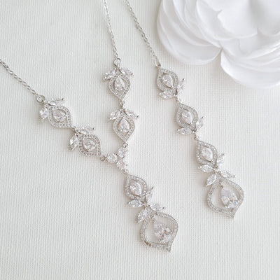 Bridal Backdrop Necklace- Meghan