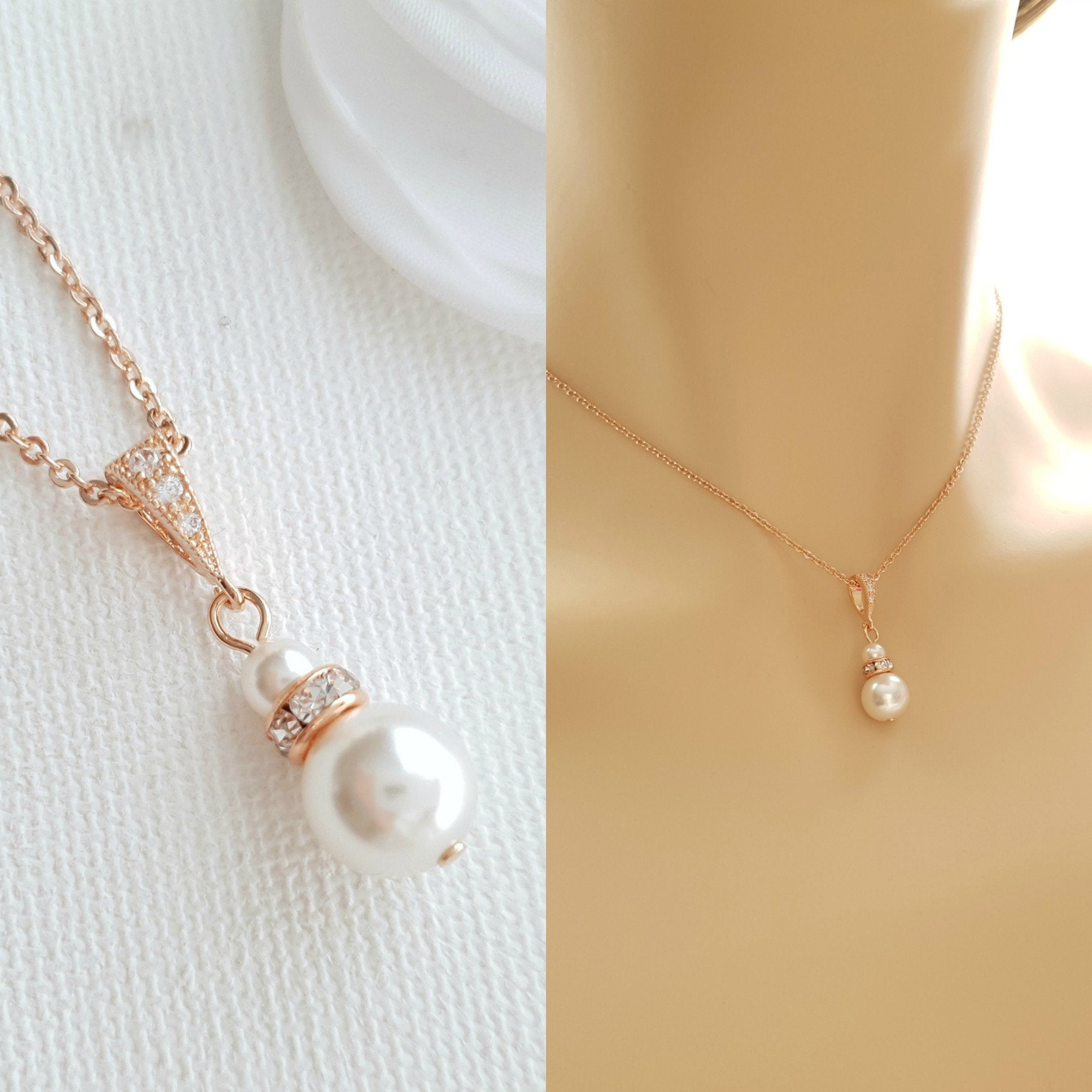 Single Pearl Necklace- Ava - PoetryDesigns