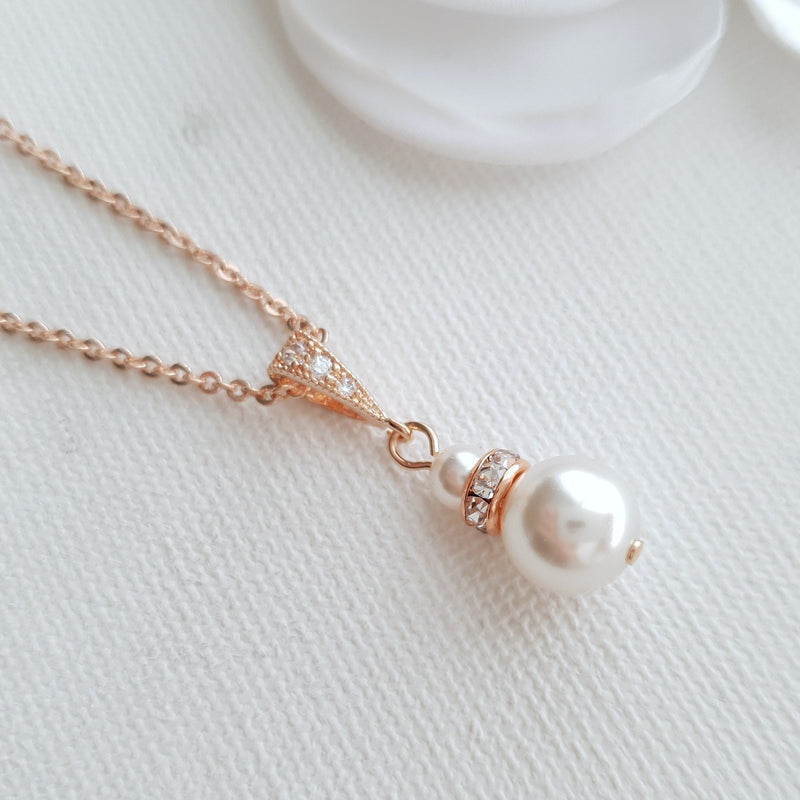 Single Pearl Necklace- Ava
