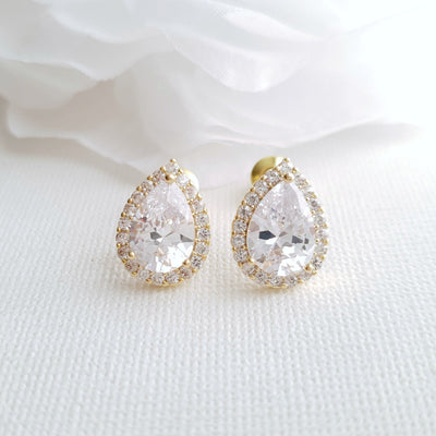 Teardrop Stud Earrings- Emma
