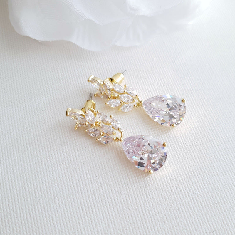 Gold Leaf Earrings-Willow