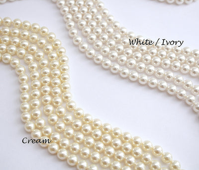 Cream and White Pearl for Esther Rose gold Crystal Earrings