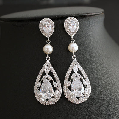 crystal teardrop earrings wedding