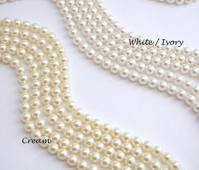 Back Drop Bridal Necklace, Pearl Crystal Wedding Necklace, Wedding Backdrop Necklace, Simple Back Necklace, Wedding Jewelry, Leila
