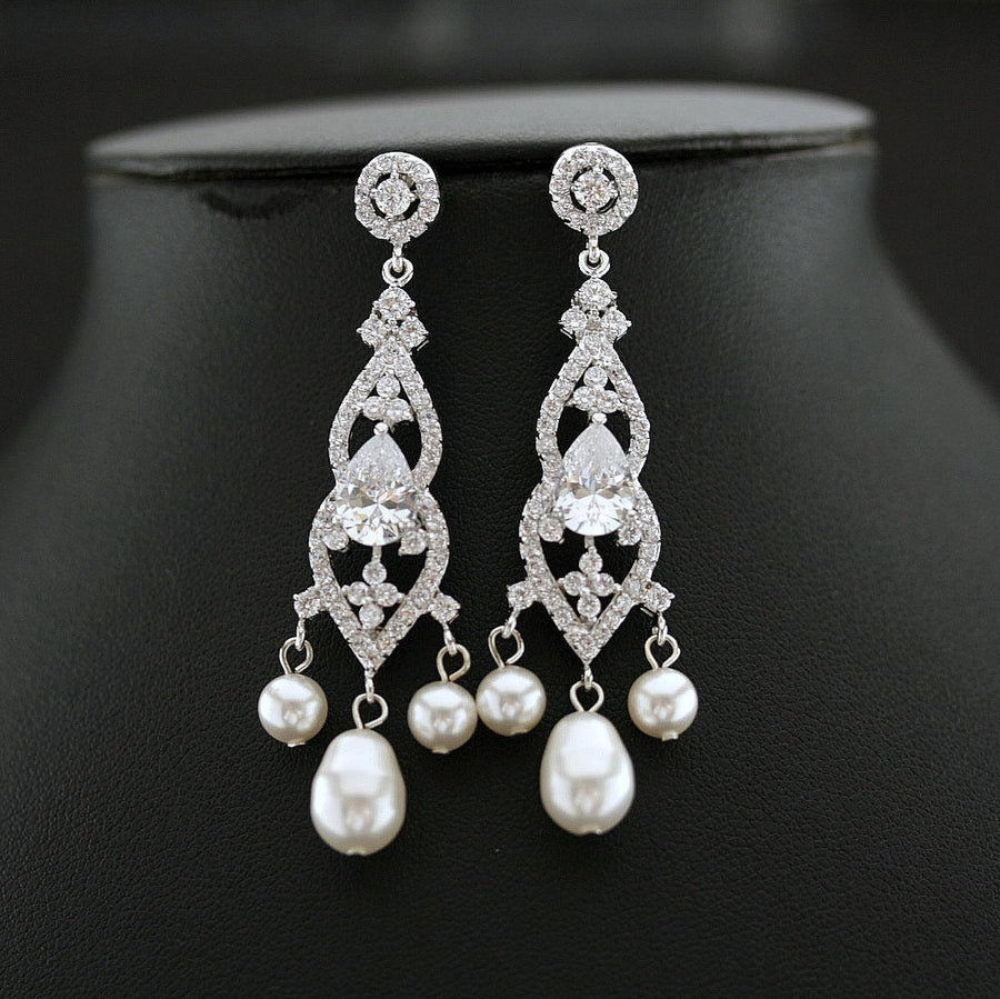 Products tagged sale poetrydesigns bridal chandelier earrings wedding earrings gift for wife crystal and pearl earrings arubaitofo Choice Image