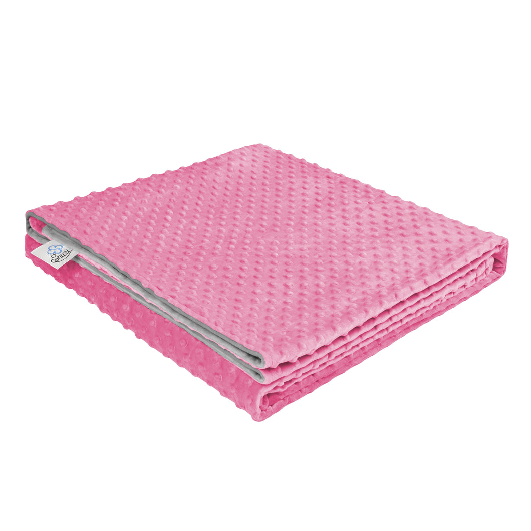 Weighted Blanket Cover (Premium Sensory Fabric, Pink/Grey) | Snuzi Life