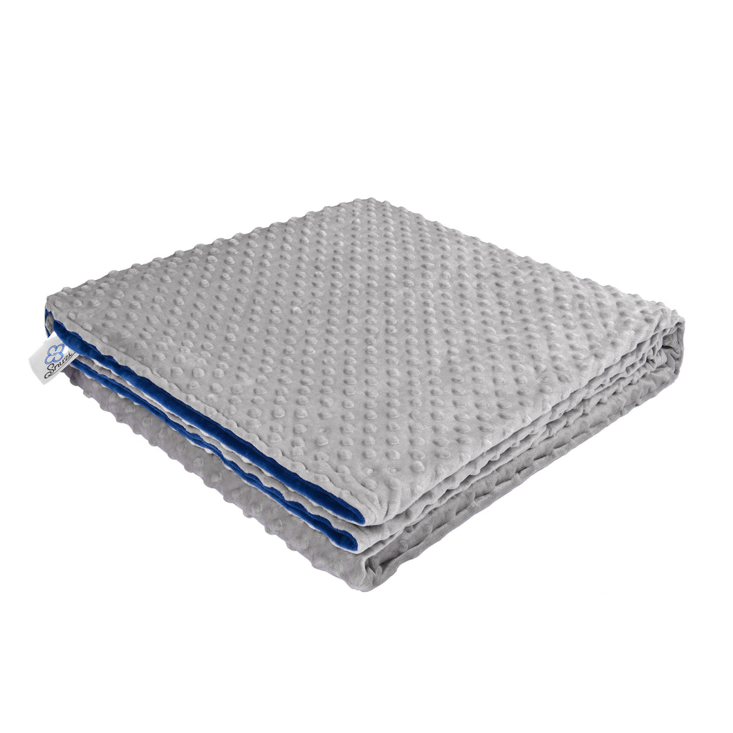 Weighted Blanket Cover (Premium Sensory Fabric, Navy/Grey) | Snuzi Life