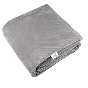SNUZI LIFE 7kg Premium Weighted Blanket & Removable Cover, Grey
