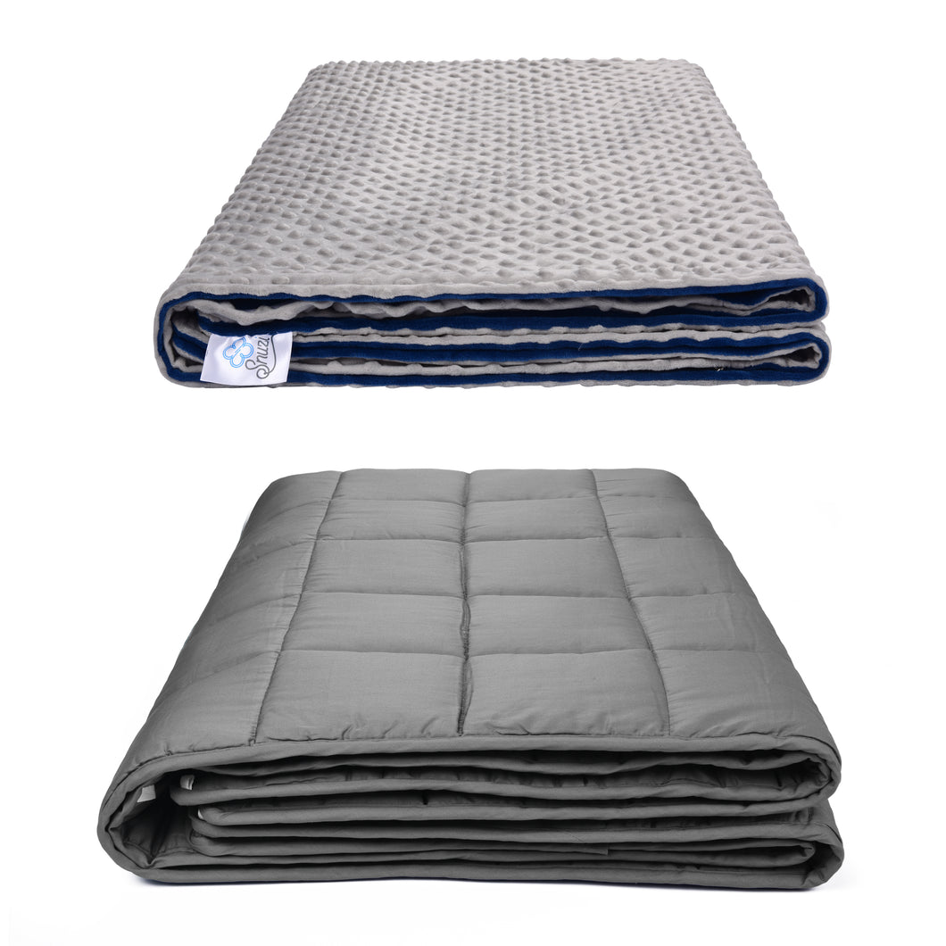 SNUZI LIFE 5.5kg Premium Weighted Blanket & Removable Cover