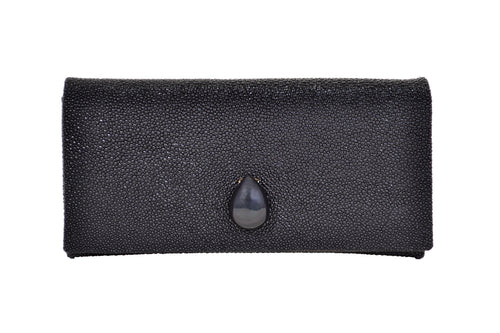 Black Stingray Clutch