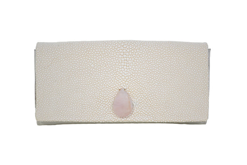 Cream Stingray Clutch