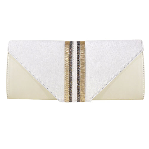 Cream Medium Clutch