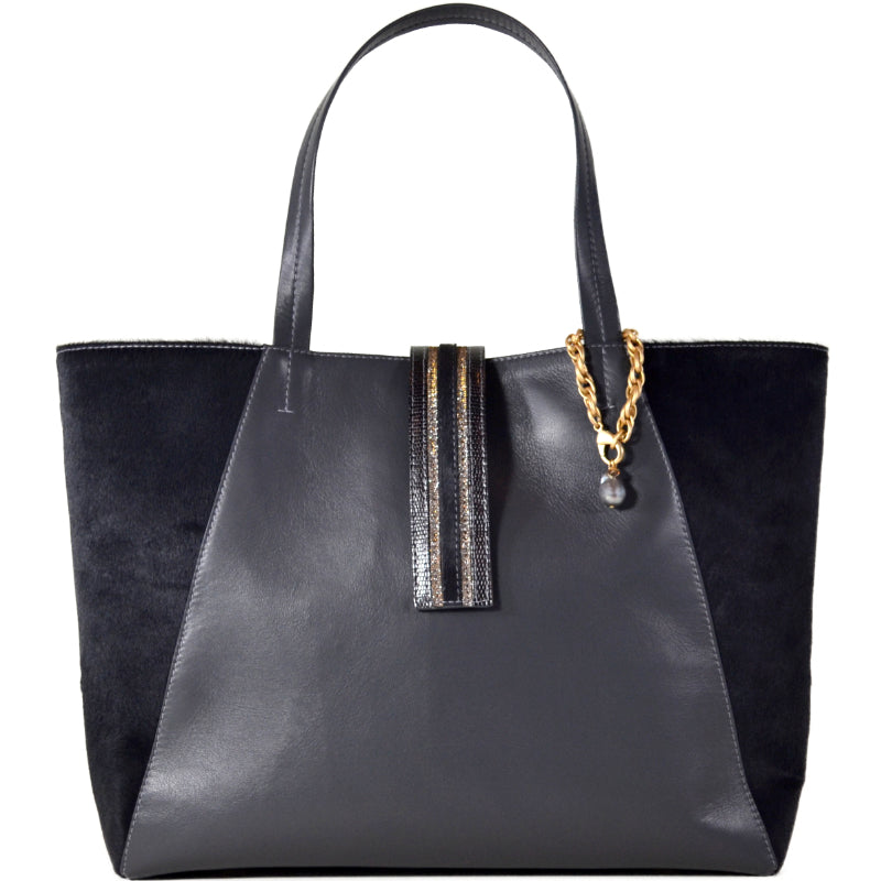 Charcoal Convertible 3C Tote