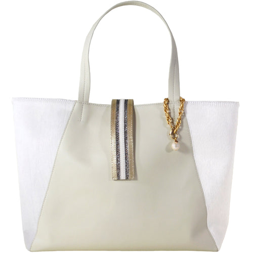 Cream Convertible 3C Tote