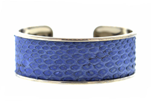 Medium Denim Python Cuff in Gunmetal