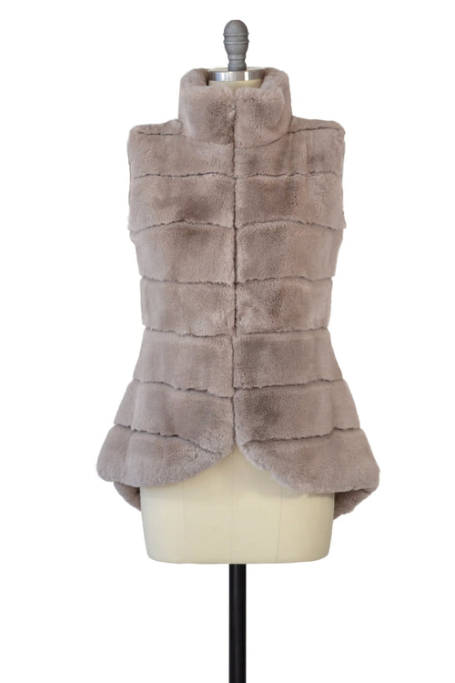 Rex Rabbit Vest in Blush