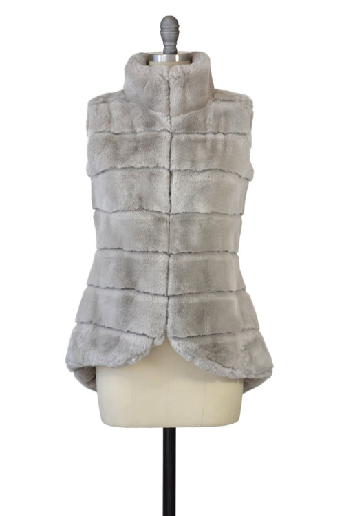 Rex Rabbit Vest in Dove Gray