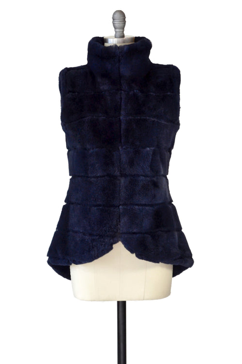 Rex Rabbit Vest in Midnight Blue