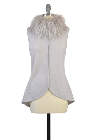 Rex Rabbit Vest in Black