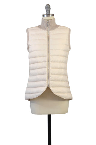 Cashmere & Rex Rabbit Vest in Black