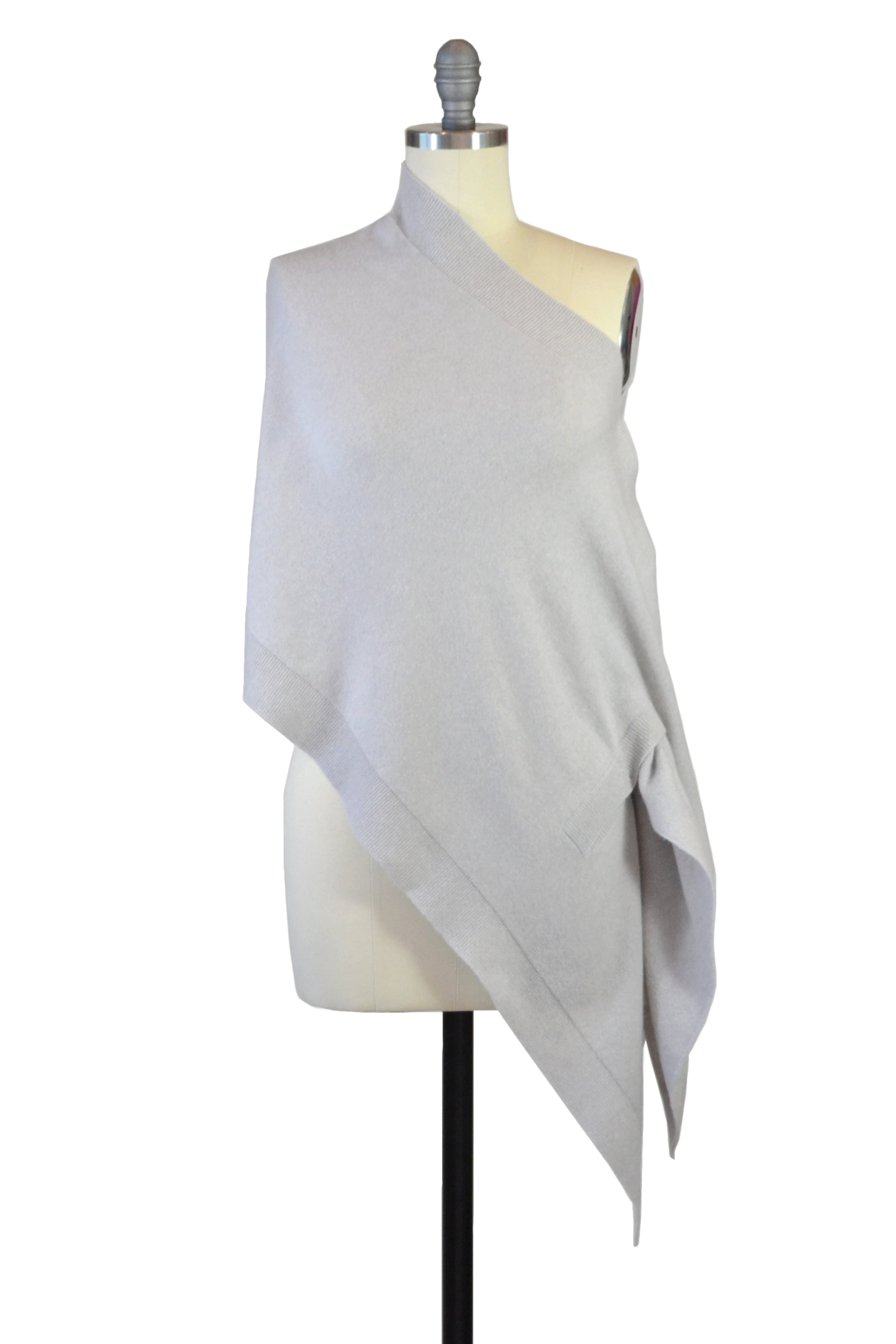 Cashmere Stole in Dove Gray