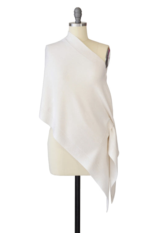 Cashmere Stole in Ivory