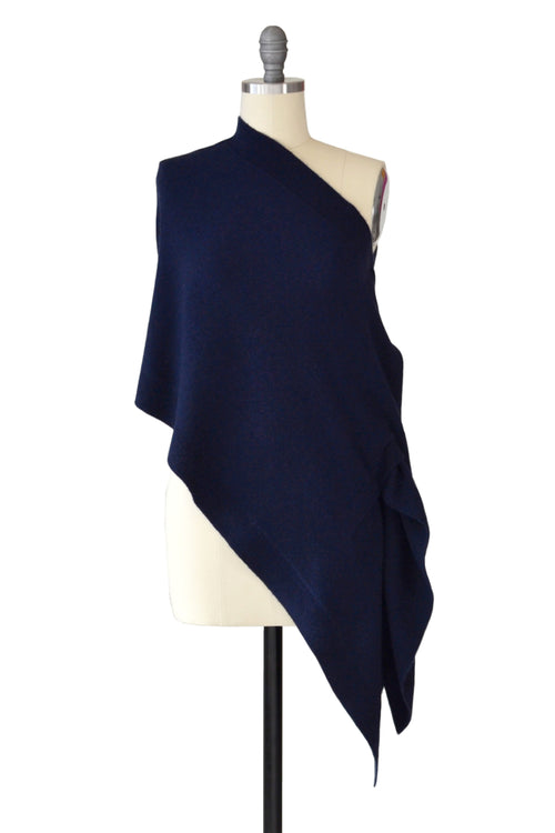 Cashmere Stole in Midnight Blue