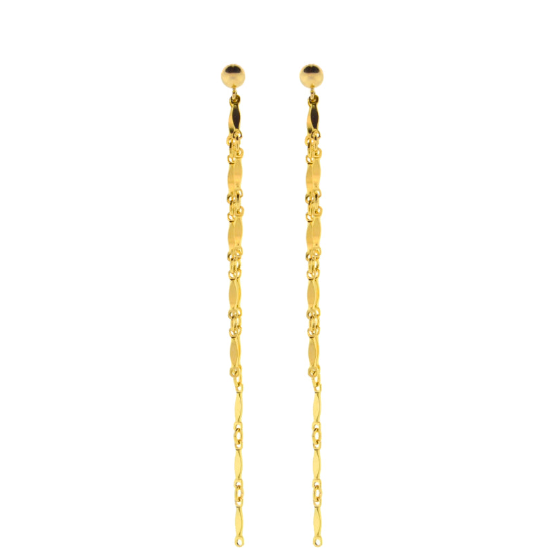 Dainty & Delicate 3 Chain Dangly Earrings in Gold
