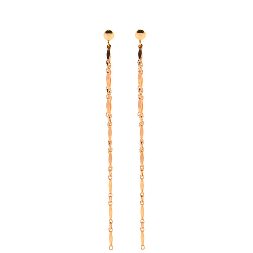 Dainty & Delicate 3 Chain Dangly Earrings in Rose Gold