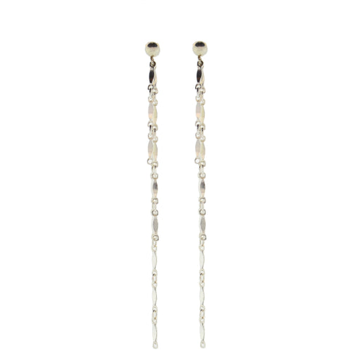 Dainty & Delicate 3 Chain Dangly Earrings in Sterling Silver