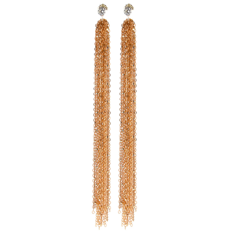 Rose Gold Sweeper Earrings