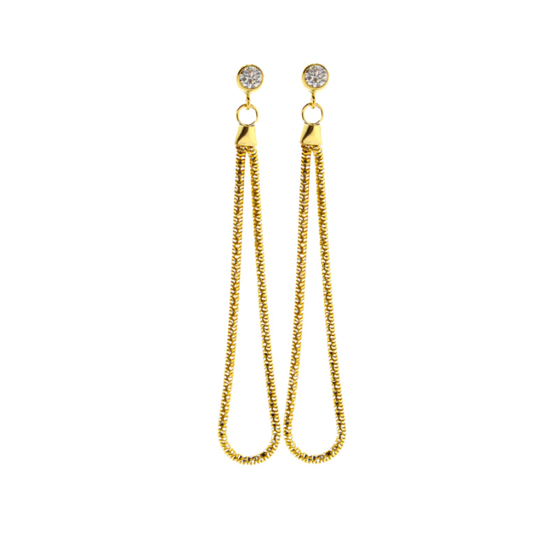 Slinky Snake Earrings in Gold