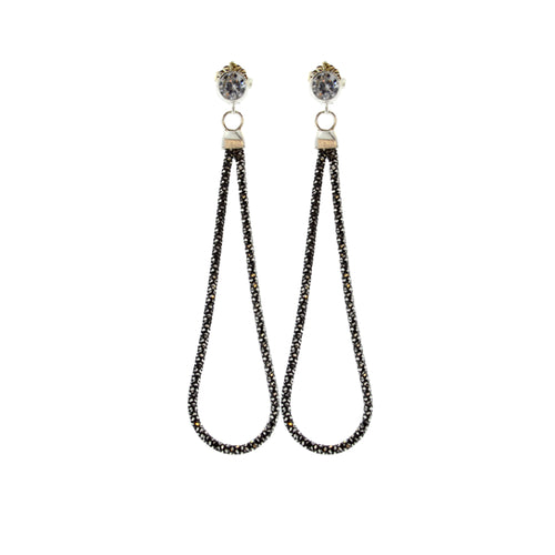 Slinky Snake Earrings in Oxidized Sterling Silver