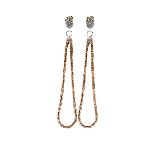 Slinky Snake Earrings in Rose Gold