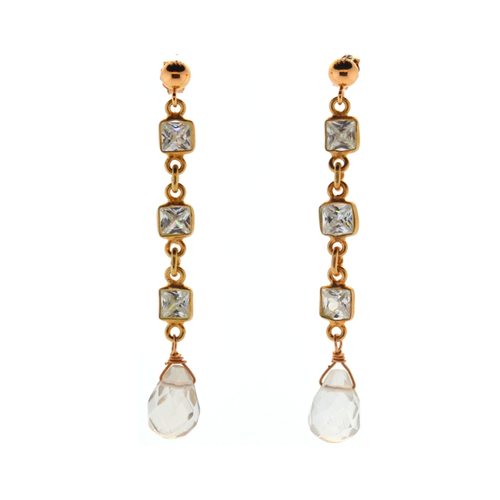 Vallauris Earrings in Rose Gold