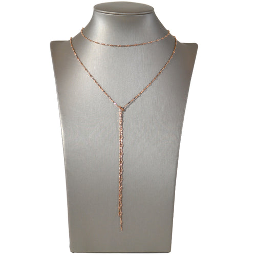 Dainty & Delicate Lariat in Rose Gold