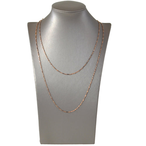 Dainty & Delicate Long Necklace in Rose Gold